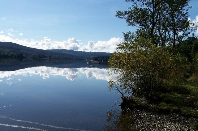 View of Loch Awe from rear of Village Hall, Dalavich