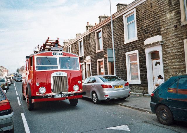 Vintage fire engine - Higher Audley - Blackburn