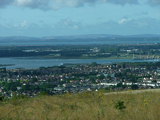 View over Gosport to the Isle of Wight