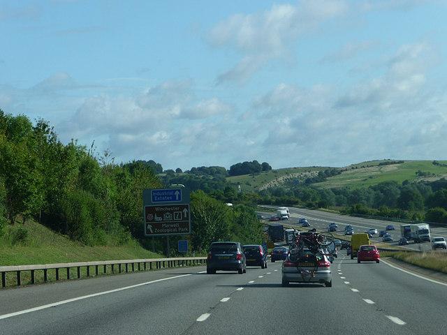M3 near Shawford