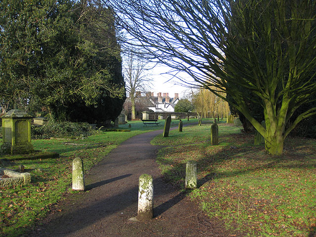 Bollards on the churchyard path