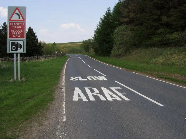 A4067 heading to Crai