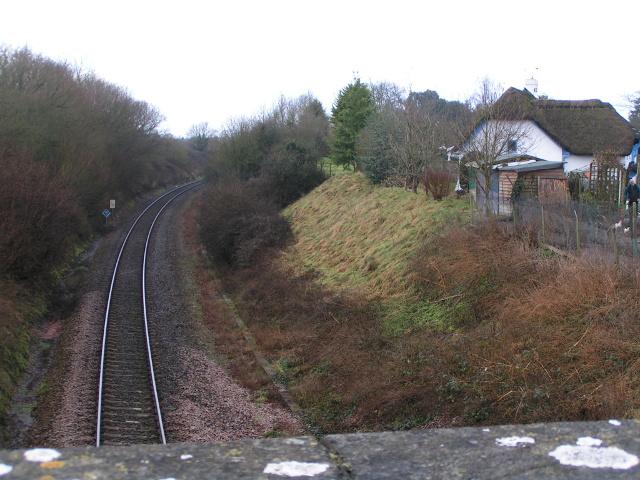 Railway line to Exeter