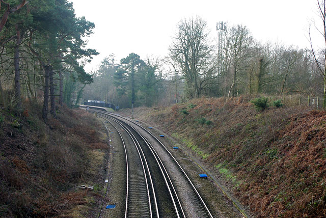 Round the bend to Dormans station
