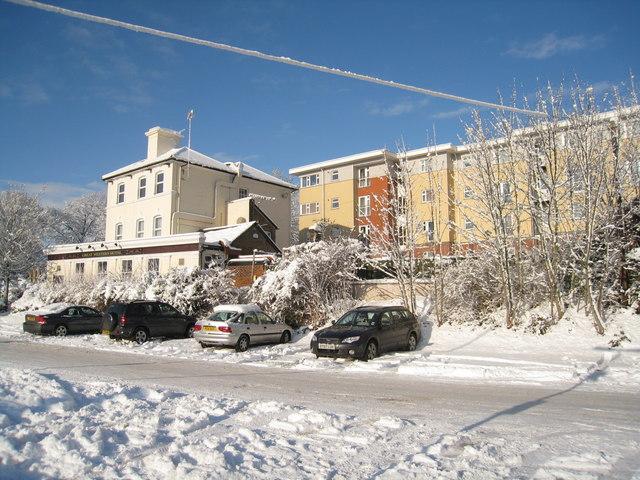 Station car park - Basingstoke in snow