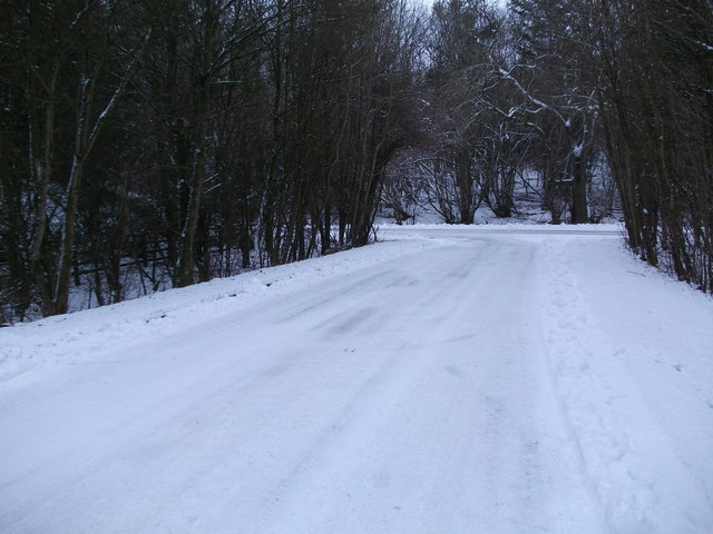 Upper Bullington - Snowy Road