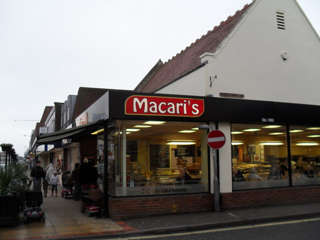 Macari's at the junction of London Road and  Bedford Street