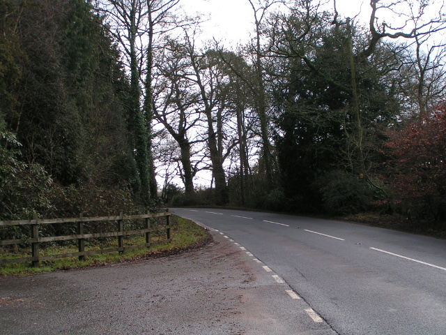 The road to Ottery St Mary from the old A30