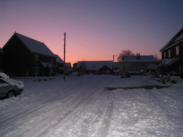 Evening sky & snow