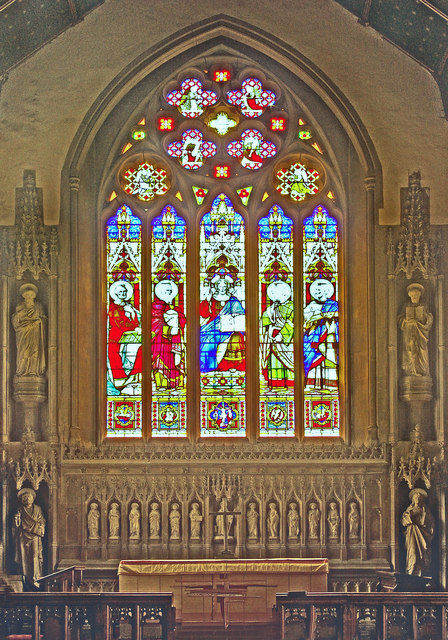 St Mary's Church, Reigate - the east window and surrounds
