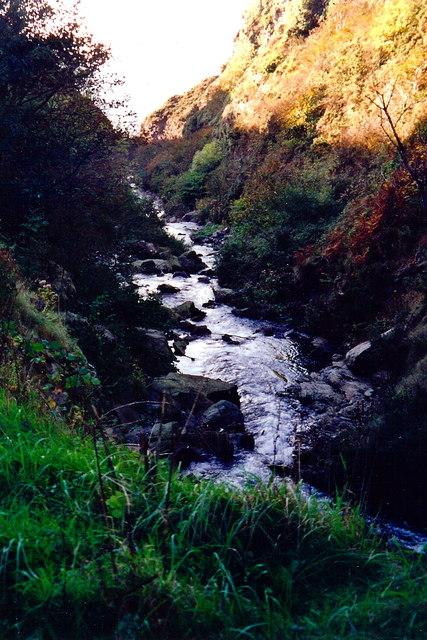 Glen Maye - Stream through gorge to Irish Sea