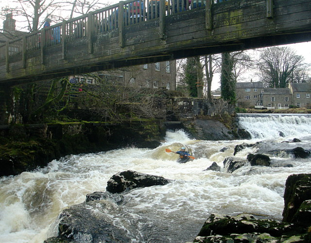 Starting the run of Linton Falls