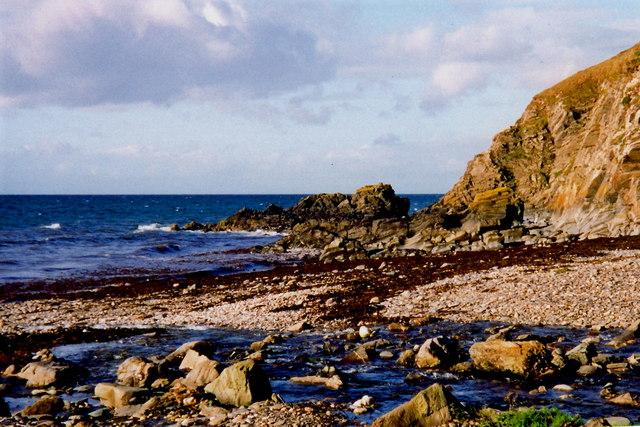 Glen Maye - Irish Sea coastline