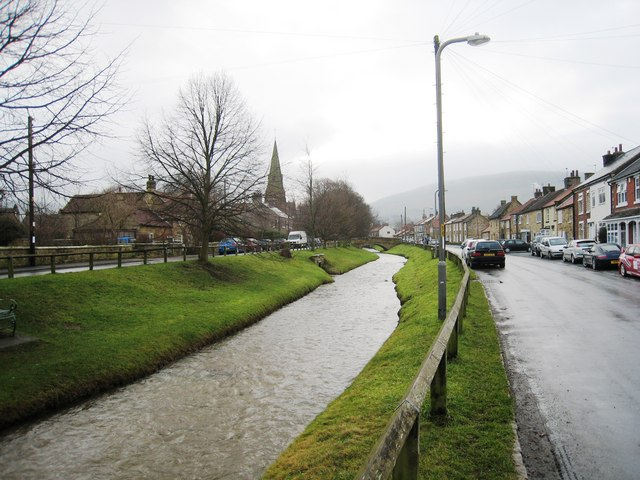 Scugdale Beck passing through Swainby