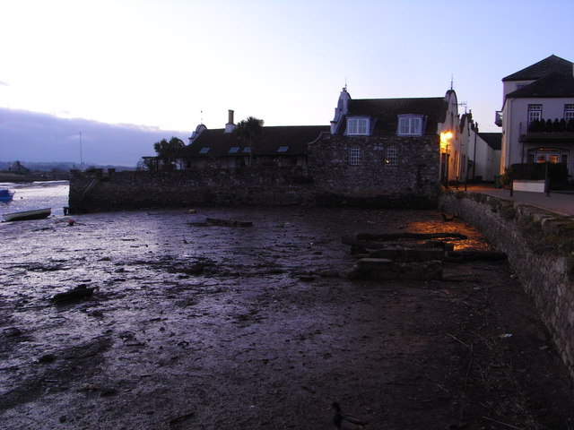 Dutch houses at dusk, Topsham