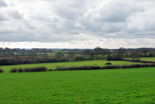 View southwest  from behind Crowhurst church