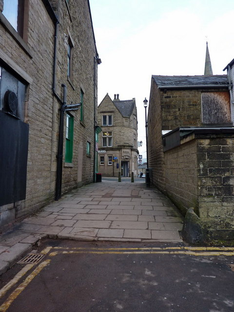 Ginnel between Prince Street and Bridge Street, Ramsbottom