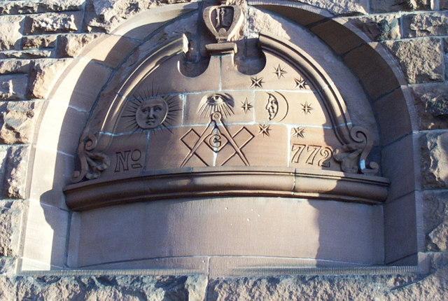 Masonic symbols, Pollokshields Burgh Hall