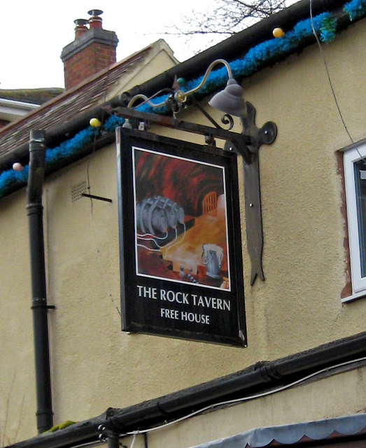 The Rock Tavern sign, Caunsall Road