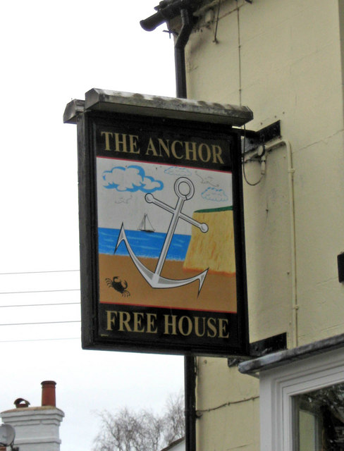 The Anchor Inn sign, Caunsall Road