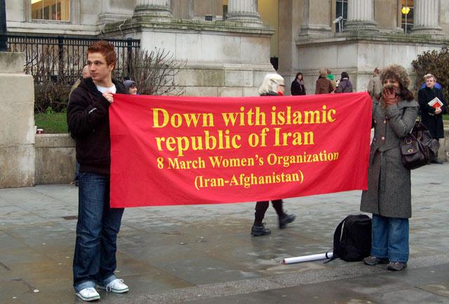 Protest against the Iranian regime, Trafalgar Square