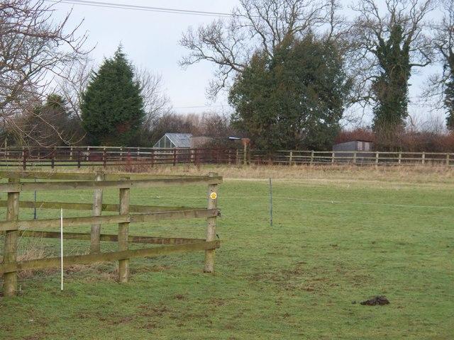 Fence across footpath
