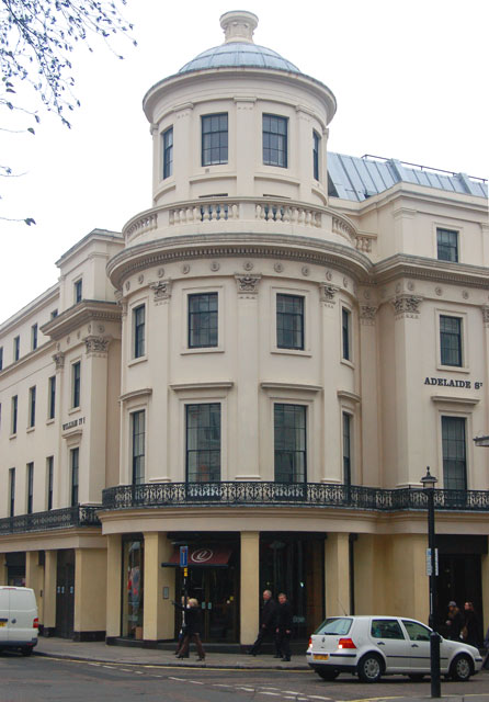 The corner of Adelaide Street and William IV Street