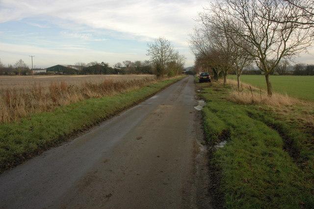 Road near Stoneford Barn