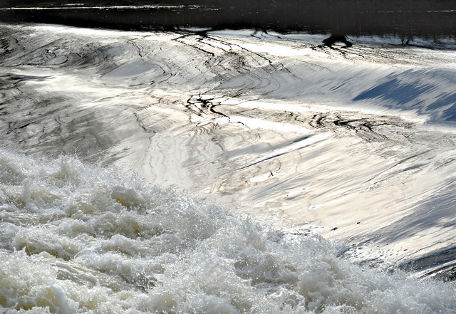 Weir water on the River Severn (2)