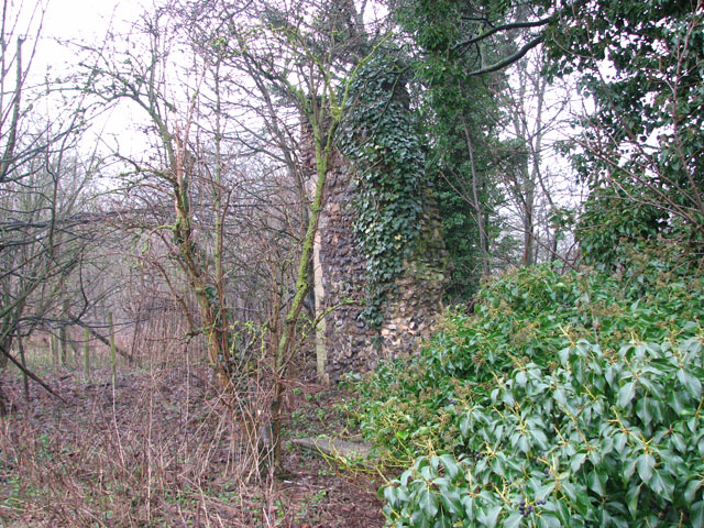 The ruins of St Andrew's church - the south-west corner