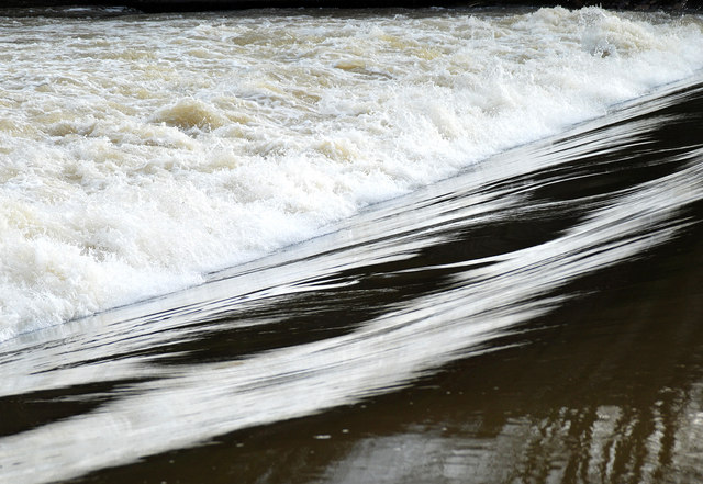 Weir water on the River Severn (1)