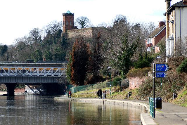 River bank walk, Shrewsbury.
