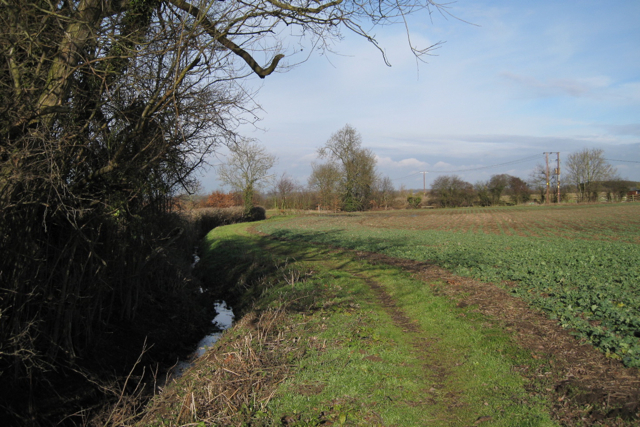 Footpath by ditch near Oakdene