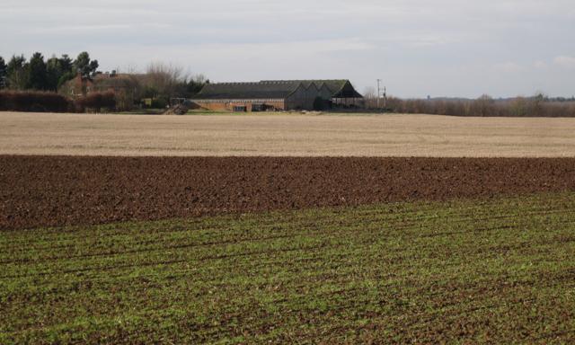 Cubbington Heath Farm from the east