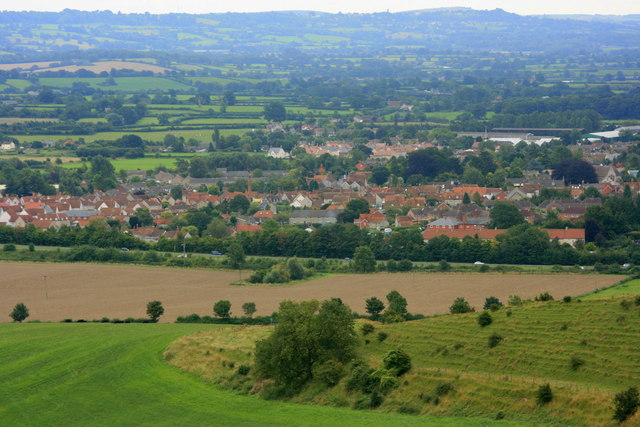 2008 : View of Mere from White Sheet Hill