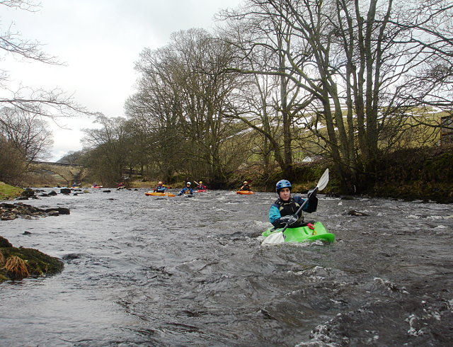 Setting off to paddle the Middle Wharfe