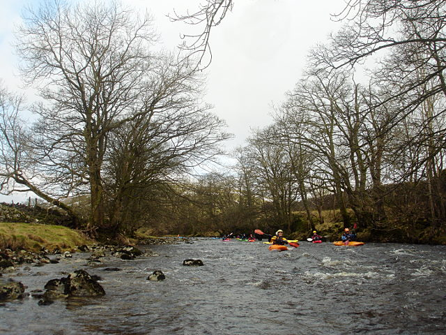 Middle Wharfe paddling party