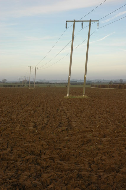 Power cables and arable land
