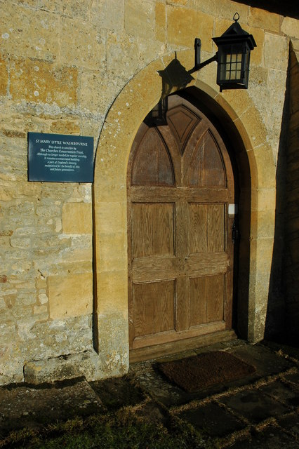 Door to Little Washbourne Church