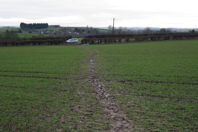 Muddy path to Rugby Road