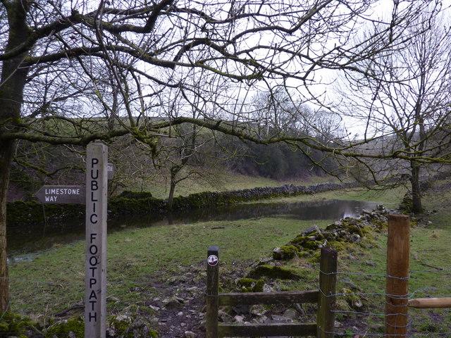 Limestone Way, partially submerged