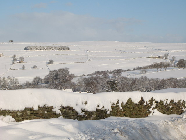 The valleys of Shield Burn and Philip Burn in the snow