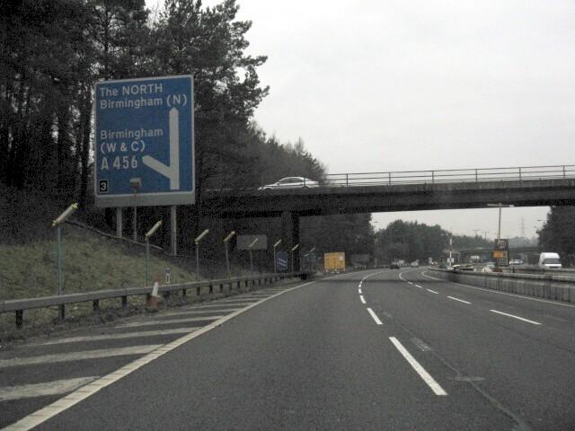 M5 Motorway - Junction 3 Exit Sign, Northbound