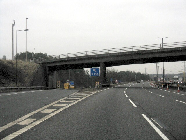 M5 Motorway - Bridge At Junction 3