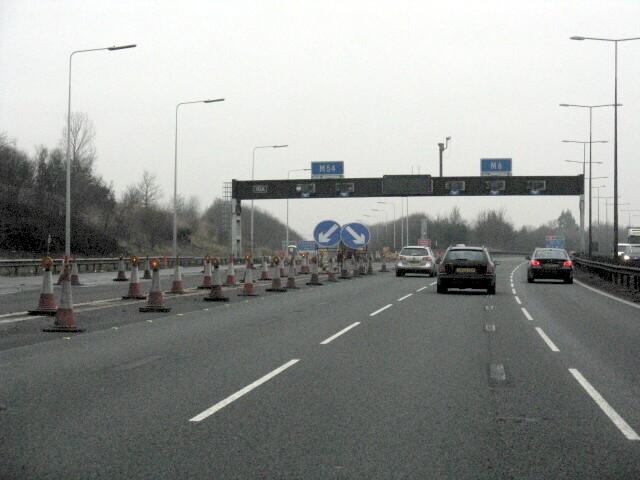 M6 Motorway - Junction 10a Northbound