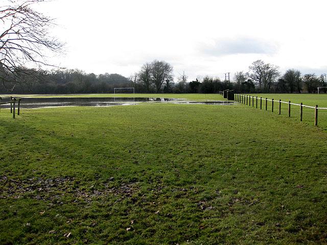 Flooded recreation ground