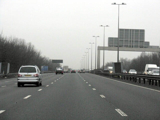 M6  Motorway North Of Junction 11a