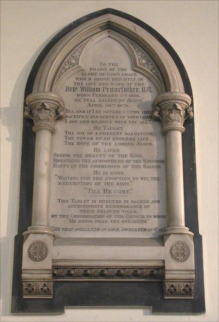 St Jude & St Paul, Mildmay Grove North, London N1 - Wall monument