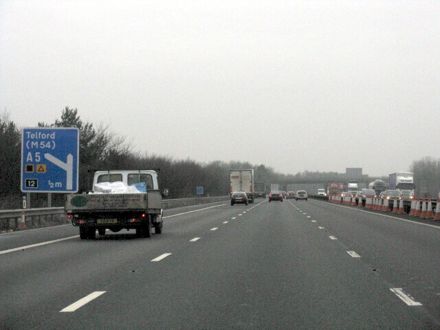 M6 Motorway - Approaching Junction 12, Northbound