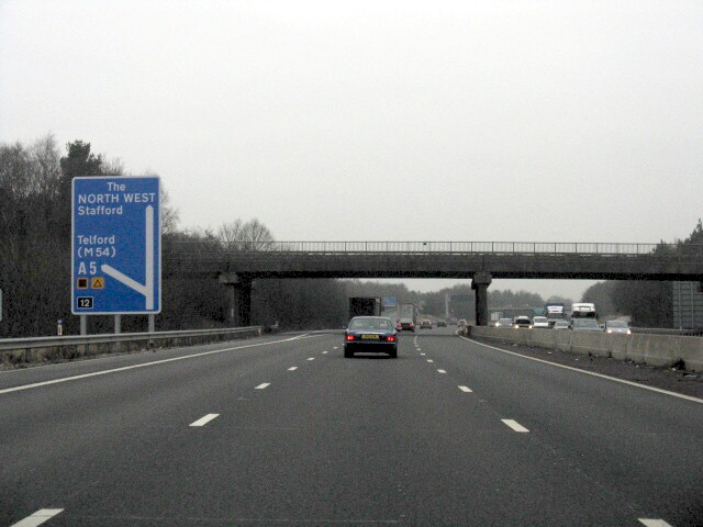 M6 Motorway - Junction 12 Exit, Northbound